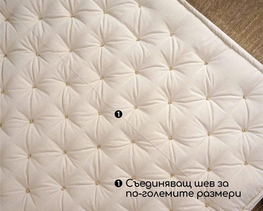 Home of Wool вълнен матрак 18 см със съединяващ шев