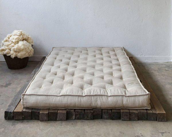 Home of Wool natural handmade wool-filled mattress