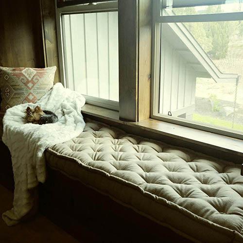 home of wool amazon client custom bench cushion