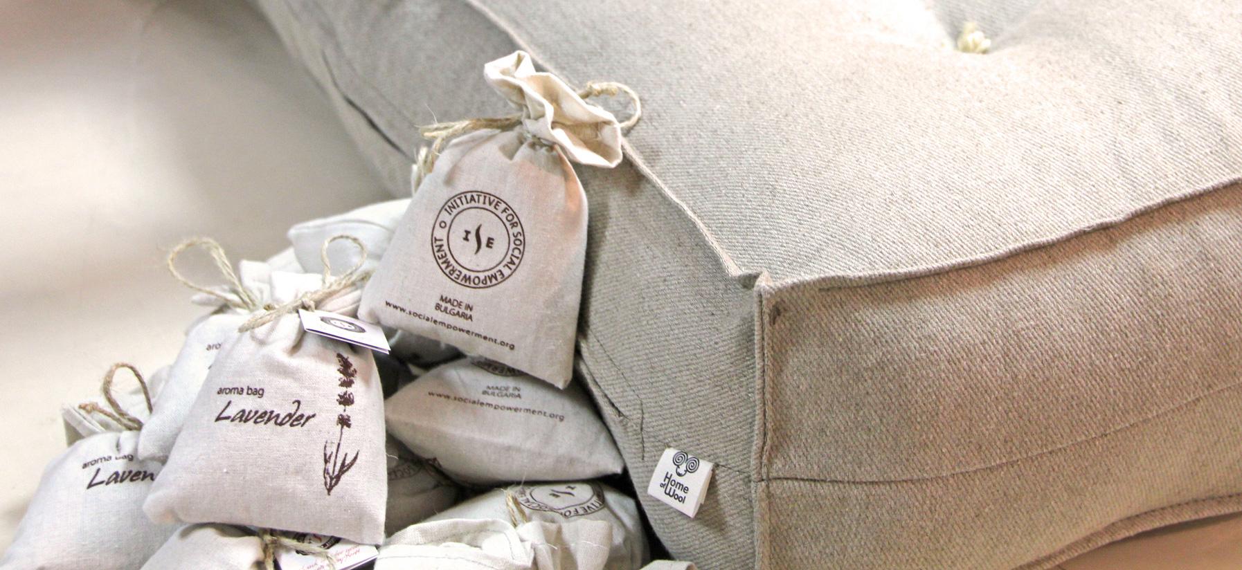 Home of Wool causes ISE lavander bags
