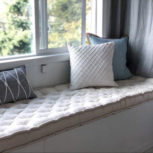 home of wool lisa parasi bench cushion