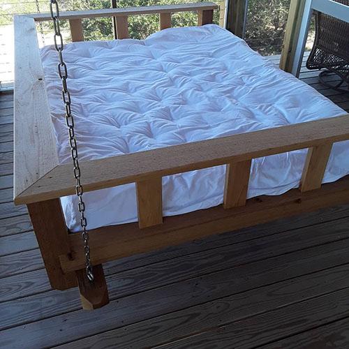 Margaret B Long's custom Home of Wool porch swing mattress