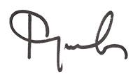 Rosica's signature