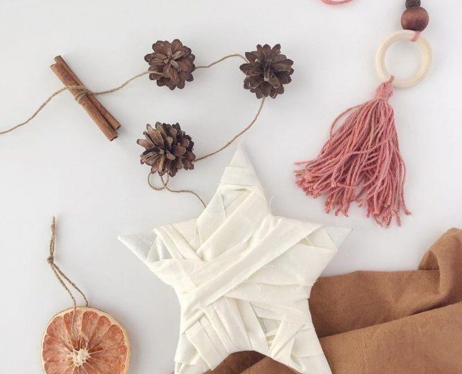 Коледна декорация с нулев отпадък - ръчно направени орнаменти за елха